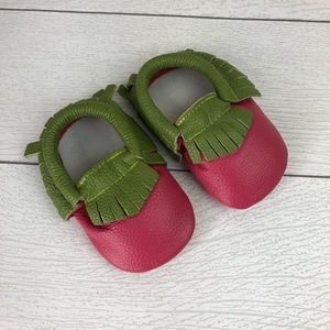 Other - Watermelon Soft Sole Moccasins 6-12mo.